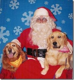 Gracie and Sahmmy with Santa