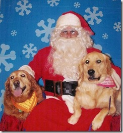 Gracie and Sahmmy with Santa